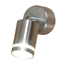 Alpha 1 1w LED Stainless Steel Ajustable Wall Spot