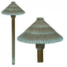 Bronze 17 Plug & Go 1w LED Verdigris Round Pagoda Light