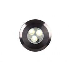 Fusion 1 Plug & Go 3w LED Satinless Steel Ground Light