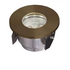 Fusion 2 Plug & Go 3w LED Solid Brass Ground Light
